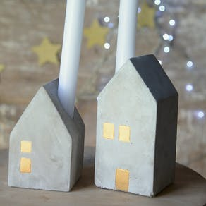 Concrete Advent Candle Holders