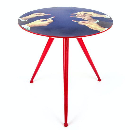 Designer Lipstick Side Table