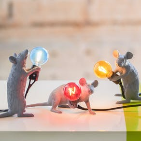 Designer Grey Mouse Light