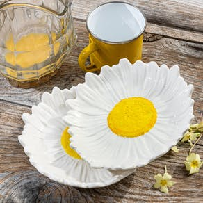 Daisy Flower Serving Bowl