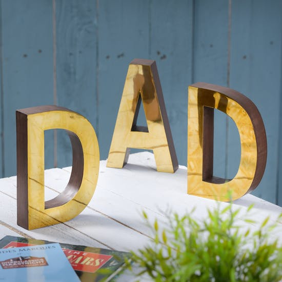 A Set Of Brass Fathers Day Letters