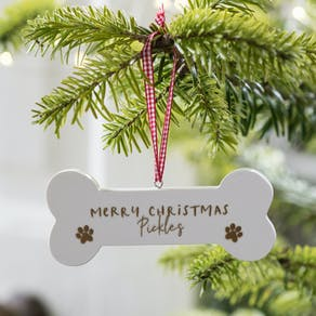 Personalised Dog Bone Christmas Decoration