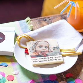 Edible Printed Birthday Photo Chocolate