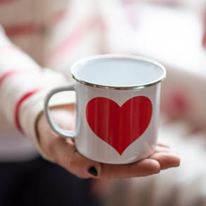 Enamel Love Heart Mug