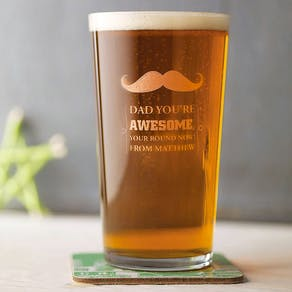 Personalised Etched Pint Glass