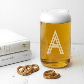 Exclusive Monogram Can Glass
