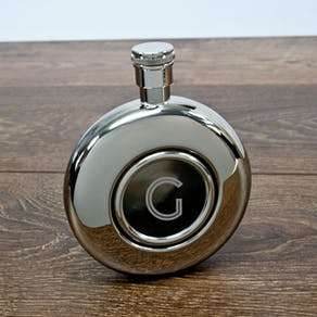 Exclusive Monogrammed Round Hipflask