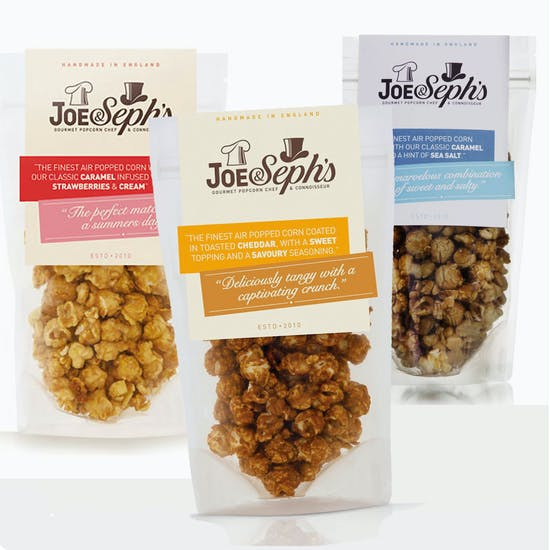 BRILLIANTLY FLAVOURED GOURMET POPCORN