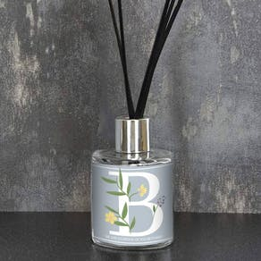 Floral Initial Personalised Reed Diffuser