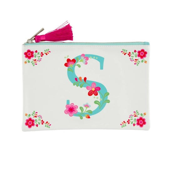 Floral Letter Pouch With Tassle