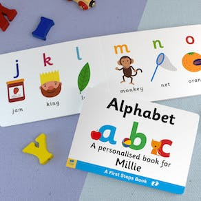 Personalised First Steps Alphabet Book