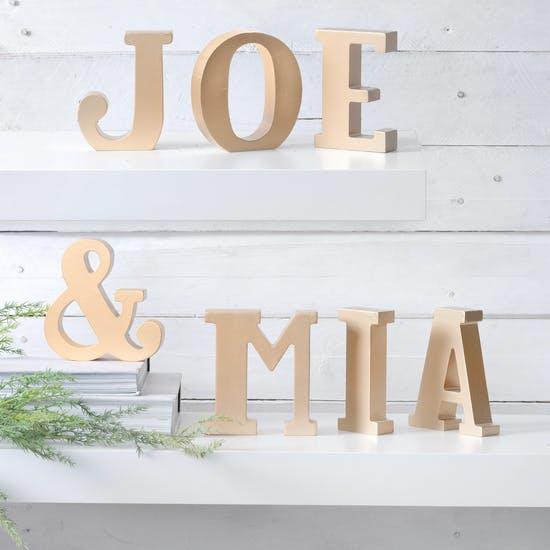 Gold Freestanding Letters