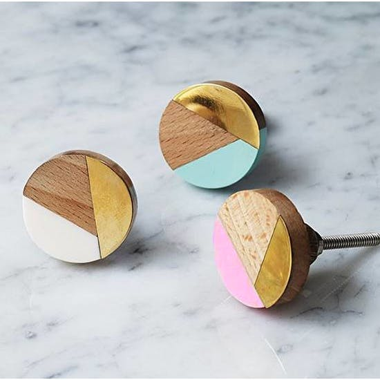 Geometric And Brass Knobs