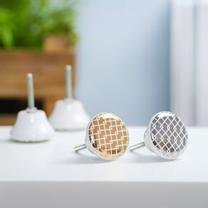 Gold and Silver Maze Door Knobs