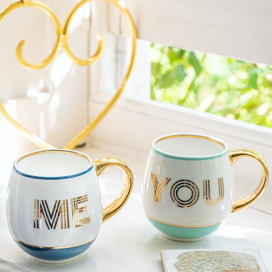 Gift Boxed Pair Of You Me And Mugs