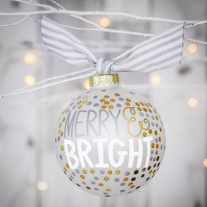 Giant 'Merry & Bright' Personalised Bauble