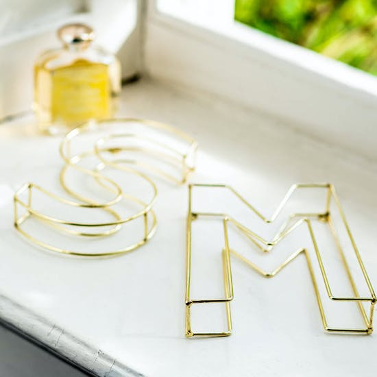 Gold Wire Letters