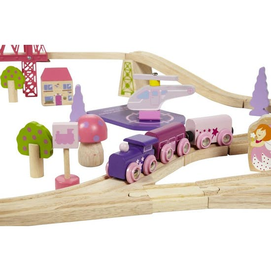 Giant Fairy Town Pink Train Set