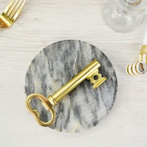 Giant Gold Key Bottle Opener And Corkscrew