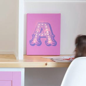 Giant Letter Light Up Canvas