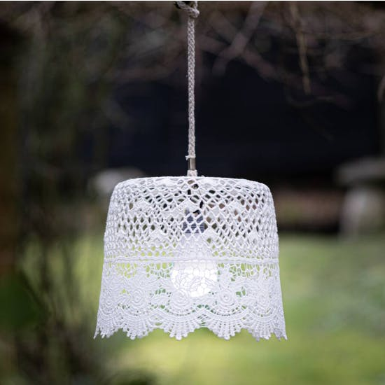 Garden Lampshade With LED Bulb