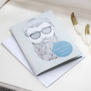 Grow A Beard Greetings Card