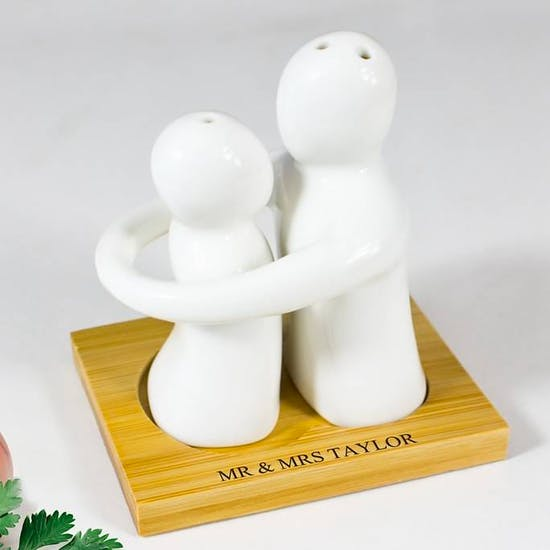Hugging Couple Salt and Pepper Set