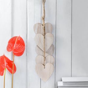 Hanging Wooden Heart Decoration
