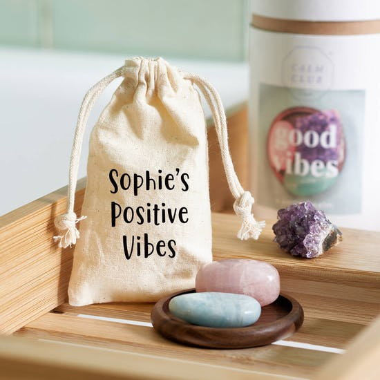 Healing Stones In A Personalised Bag