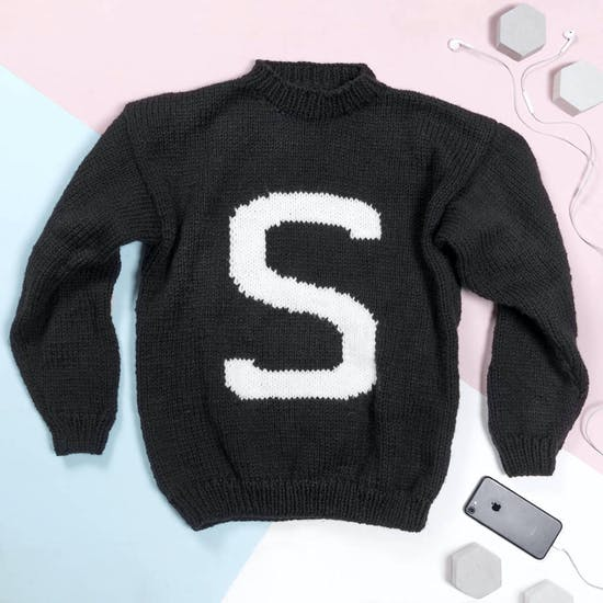 Hand Knitted Letter Sweater