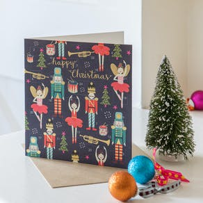 Pack Of Sweet Mice In Glasses Christmas Cards