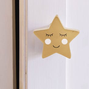 Happy Star And Moon Drawer Knob