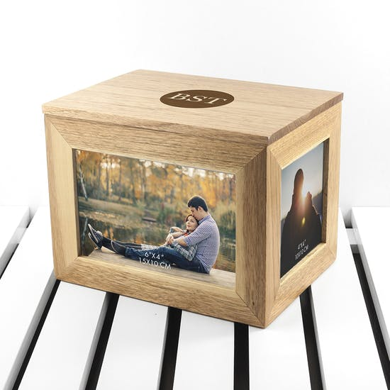 Initial Keepsake box with Photos