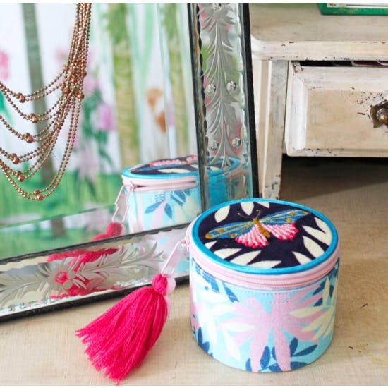 Jewelled Embroidered Jewellery Boxes