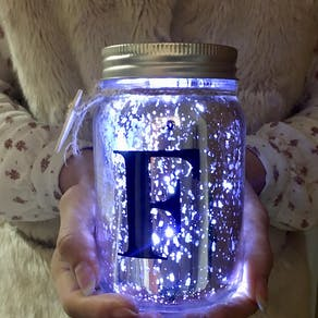 Light Up LED Monogram Jar
