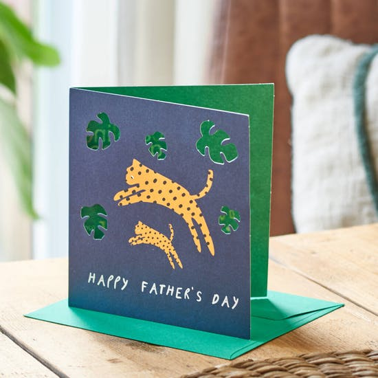 Leopard Design Father's Day Card