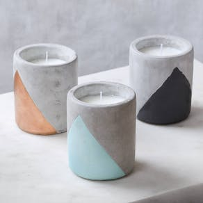 Large Concrete & Colour Candles