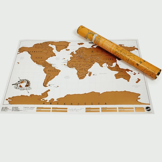 Large Scratch Map