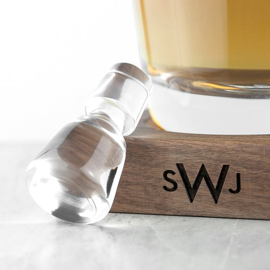L.S.A Whisky Decanter And Walnut Base