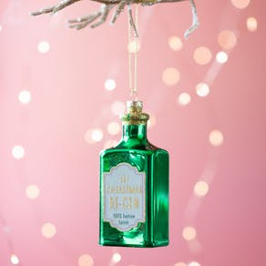 Let Christmas Be Gin Glass Bauble