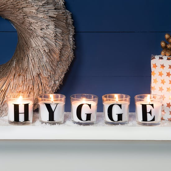 Glass Letter Scented Candle