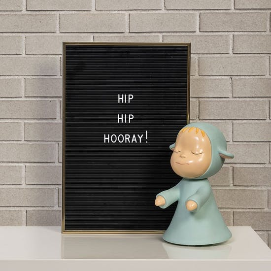 Letter Peg Board With Gold Frame