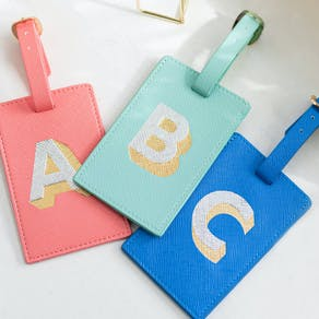 Letter Press Luggage Tag
