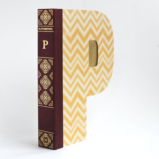 Letter Shaped Library Books