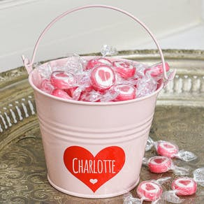 Love Yourself Bucket With Heart Sweets