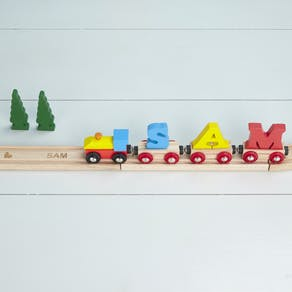 Pack Of Personalised Train Track