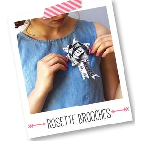 Make Your five rosette brooches