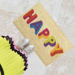 Multi Coloured Happy Doormat