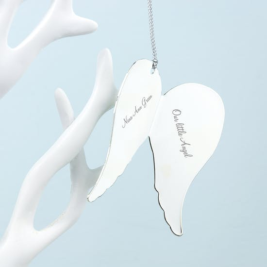 In Memory Angel Wings Keepsake