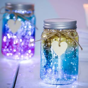 Mini Metallic Ombre LED Firefly Jar